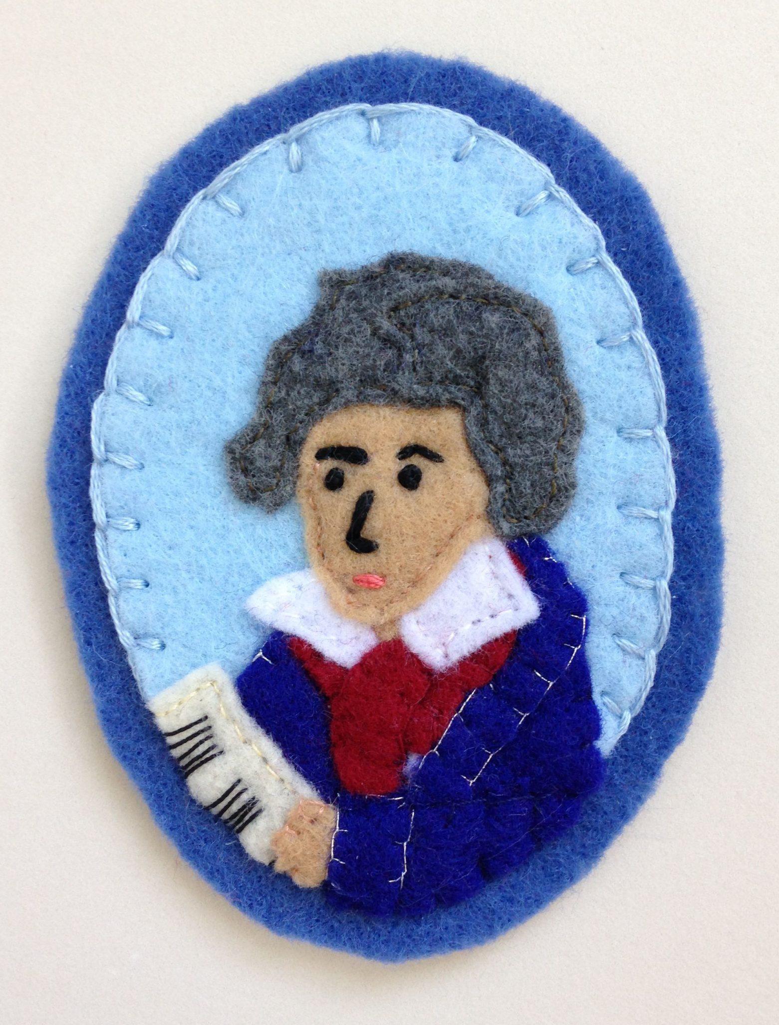 Ludwig van Beethoven Sew-on Patch